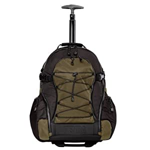Tenba 632-331 Shootout Large Backpack with Wheels (Olive/Black)