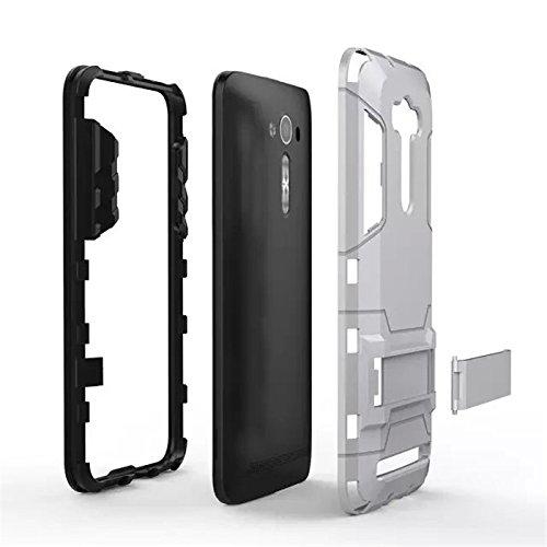 half off 2820c 46ab6 Defender Dual Layer Hybrid Armor bracket stand back case cover for Asus  Zenfone 2 Laser 5.5 ZE551ML - Navy Black