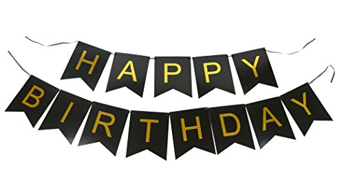 PoshPeanut-Pastel-Happy-Birthday-Banner-Decoration-for-Boys-and-Girls-Parties-Black-and-Gold-Perfect-for-21st-30th-40th-50th-Birthday-Party-Supplies