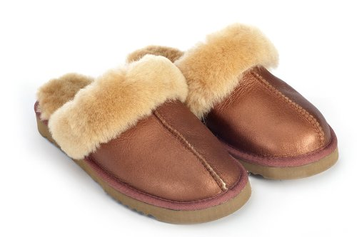 Cheap Sheep Touch Women's Twin-Face Australian Sheepskin Classic Slippers Bomber Bronze (B009M80VTG)