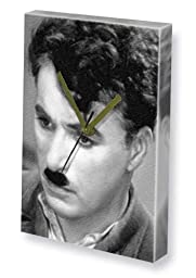 CHARLIE CHAPLIN - Canvas Clock (LARGE A3 - Signed by the Artist) #js002