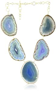 Isharya Lunar Druzy Azure Blue Necklace
