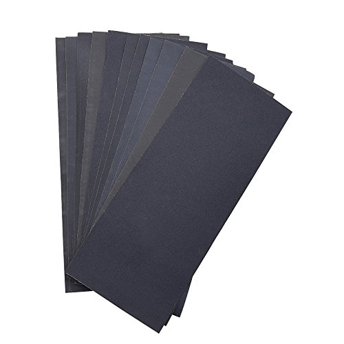 Abrasive Dry Wet Waterproof Sandpaper Sheets Assorted Grit of 400/ 600/ 800/ 1000/ 1200/ 1500 for Furniture, Hobbies and Home Improvement (12 Sheets) (1000 Grit Sandpaper compare prices)