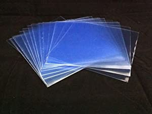 Panmer Lot de 25 pochettes transparentes pour disques vinyles 33 T