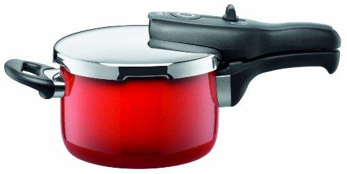 Silit Sicomatic T-Plus 8202174814 Pentola a pressione 2,5 l senza inserto, colore: Rosso