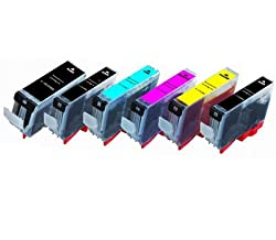 6 Pack Canon PGI-225BK/CLI-226BK/CLI-226C/CLI-226M/CLI-226Y/CLI-226GY compatible ink cartridges with chips for Canon Pixma MG6120/MG6220/MG8120/MG8120B/MG8220
