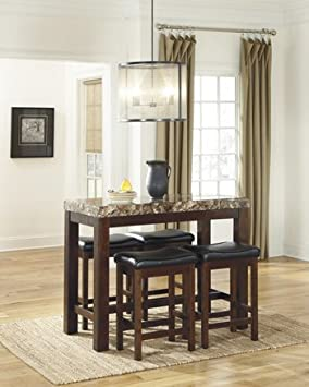 RECT Dining Room Counter Table 5 Pc. Set