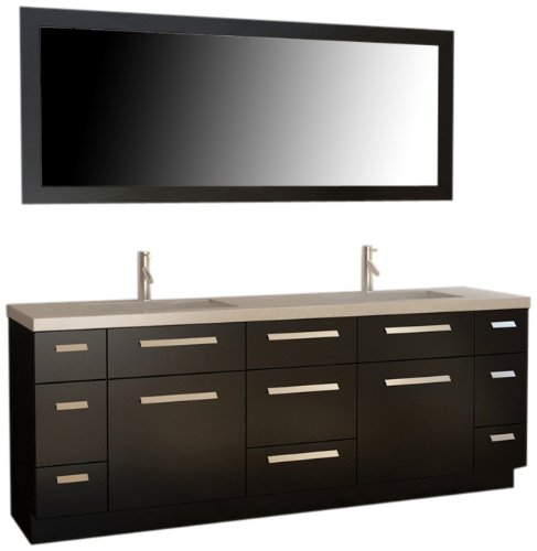 Design Element J84-DS Moscony 84-Inch Double Sink Vanity Set