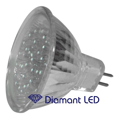 MR16 LED Strahler mit 24 hellen LEDs von DiamantLED – Flood Spot 12V niedervolt Reflektorlampe Warm