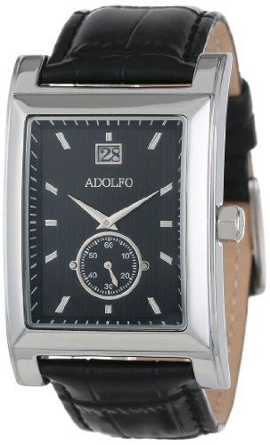 ADOLFO Men's 31022A Calendar Second Sub Zone Tank Watch