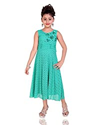 Mint Green Cotton Girl's Gown