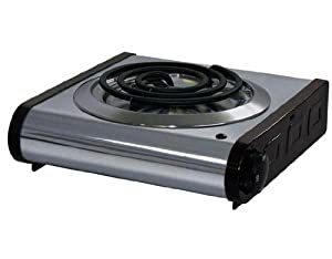 Amazon com electric portable stove 1 burner electric countertop