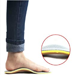 Xfome Style Comfort Orthotic Arch Support Insoles for Sport Shoes and Work Boots Relief for Foot Pain Due to Flat Feet and Plantar Fasciitis men