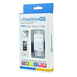 i Flash Drive 16GB Device U Disk With Extra USB Memory Storage For IPhone IPad Apple iPhone 5/iPhone 5S/iPhone 5C/iPad 4/iPad Air/iPad Mini/iPad Mini2/iPod Touch 5/iPhone 6/iPad 6 By Gadgetbucket