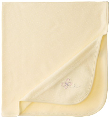 Little Me Baby-Girls Newborn Butterfly Blanket, Baby Yellow, One Size
