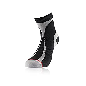 1000 Mile Racer Mid-Height Running Socks - X Large - Black