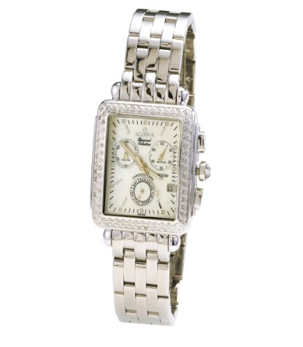 Scorva Womens Stainless Steel Swiss Chronograph