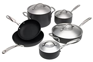 Simply Calphalon Nonstick Aluminum 10-Piece Cookware Set