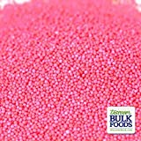 Pink Nonpareils - 8 Oz Container