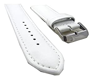 18mm White Soft Smooth Italy Genuine Italian Leather Watch Band Strap Fits Tissot PRS200