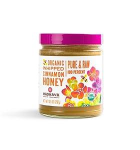 Madhava Natural Sweeteners Organic Whipped Honey, Cinnamon, 10.5-Ounce