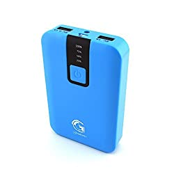 Gembonics® 12000mAh High Capacity Portable USB External Battery Charger Pack for iPhone 6 5S, 5C, 5, 4S, iPad Air, mini, Galaxy S5, S4, S3, Note 3, Galaxy Tab 3, 2, Nexus 4, 5, 7, 10, HTC One, One 2 (M8), PS Vita and most other Cell Phones, iPad and Tablets (Blue)