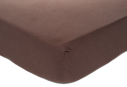 Carter's Easy Fit Jersey Crib Fitted Sheet, Chocolate (Discontinued by Manufacturer)