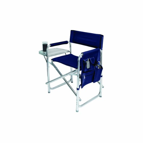 Picnic Time Portable Folding Sports Chair, Navy