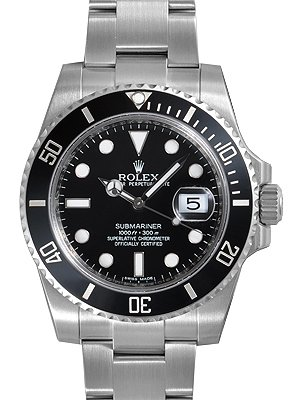 Rolex Submariner Black Dial Ceramic Bezel Steel Mens Watch 116610LN from Rolex