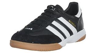 adidas Men's Samba Millenium Soccer Shoe,Black/Running White/Gold, 7.5 M
