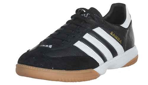 Adidas Men's Samba Millenium Soccer Shoe,Black/Running White/Gold,7 M US