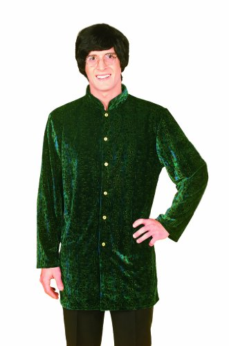 Forum Novelties Men's 60's Generation Mod Nehru Jacket Costume, Green/Gold, Standard (British Invasion Jacket compare prices)