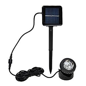 Gizga IP68 Waterproof Underwater Solar Powered LED Spotlight Spot Light Lamp Yard Garden Pool Pond Outdoor from Gizga