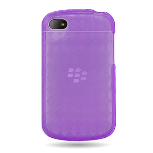 Coveron® Purple Tpu Soft Cover Case With Checkered Design For Blackberry Q10 (At&T , Verizon , Sprint) [Wck537]