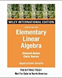 Elementary Linear Algebra: Applications Version (0471587419) by Howard Anton