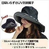 首までしっかりUVガードのつば広帽子【UVカット率99%以上】【日傘いらずの紫外線対策帽子】