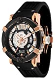 ELINI Watches:Men's Spirit Rose Gold Tone Black Silicone