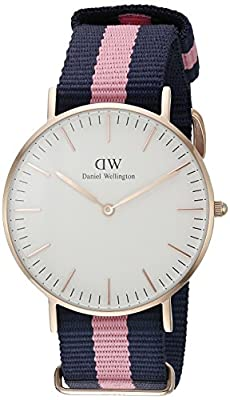 Daniel Wellington Women's Quartz Watch Classic Winchester Lady 0505DW with Plastic Strap