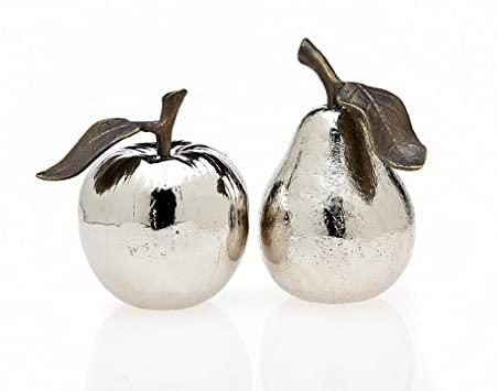 Apple and Pear Silver Plated Salt and Pepper Shaker