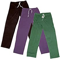 IndiWeaves Women's Stretchable Premium Cotton Lower/Track Pant(Pack of 3)_Brown::Brown::Purple::Green_Free Size