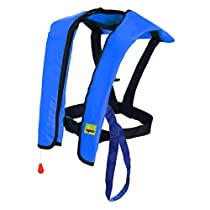 Premium Quality Automatic / Manual Inflatable Life Jacket Lifejacket PFD Floating Life Vest Inflate Survival Aid Lifesaving PFD Basic Blue Color