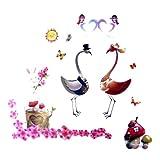 Decorative Wall Stickers Bride And Groom Flamingo Designby Discountstores