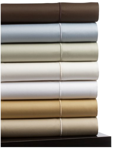 Pinzon 500-Thread-Count Egyptian Cotton Sateen Standard Pillowcase, Set of 2, White