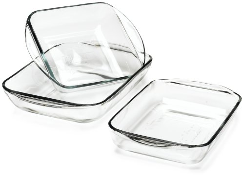 Anchor Hocking Expressions 5 Piece Ovenware Set with color label