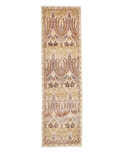 Darya Rugs Arts & Crafts Handmade Rug, Lavender, 2' 5 x 8' 4 Runner