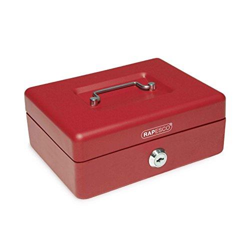 rapesco-sb0008r1-caja-fuerte-de-seguridad-con-portamonedas-interior-20-cm-de-ancho-color-rojo