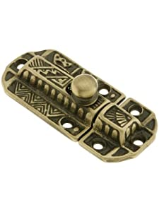 Decorative Cast Cabinet Latch In Antique Brass ...