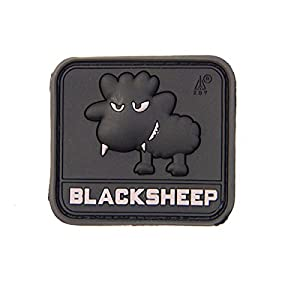 Rubber Patch Little Black Sheep Pvc Swat Black Airsoft