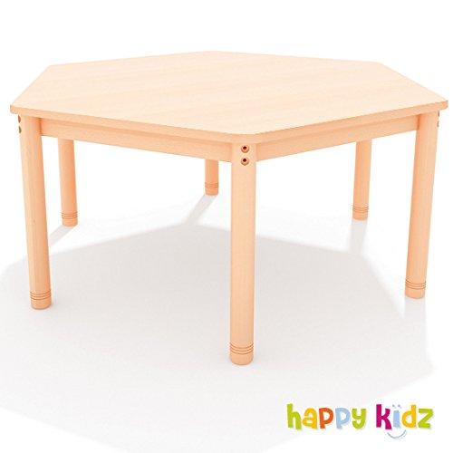 """Tisch sechseckig """"Happy Classic"""" 143 cm, variable Höhe buche jetzt bestellen"""