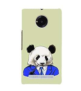EPICCASE Panda in a suit Mobile Back Case Cover For YU YUNIQUE (Designer Case)
